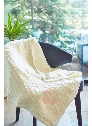 Arma Baby's Çift Taraflı Beyaz Yıldızlı Havlu Battaniye 85 x 85 Beyaz